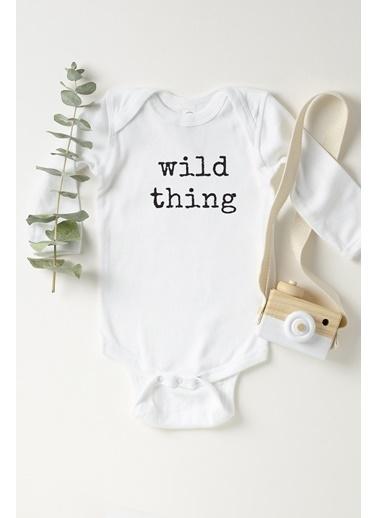 Happy Onesie Co Wild Thing Uzun Kollu Çıtçıtlı Body  Beyaz